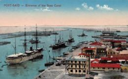 PORT SAID - ENTRANCE OF THE SUEZ CANAL ~ AN OLD POSTCARD #96961 - Port Said