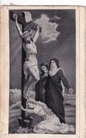 MARIE MADELEINE AU PIED DU CHRIST      CARTE EN SOIE TISSEE - Autres