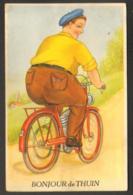 Carte à Système  - Bonjour De Thuin - Cycliste - Thuin