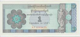 Myanmar 1 Dollars 1997 Pick FX1 UNC - Myanmar