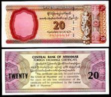 Myanmar 20 Dollars 1997 Pick FX4 UNC - Myanmar