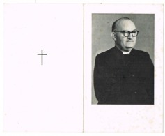 Oostende, Roeselare: 1963: Z.E.H. Karel De Meester - Onderdirecteur HTI Oostende ( 2 Scans) - Images Religieuses