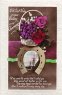 AR70 Greetings - With Best Wishes On Your Wedding Anniversary - Flowers, Horseshoe, Boat - Holidays & Celebrations