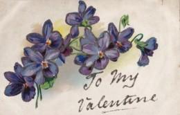 AR70 Greetings - To My Valentine - Flowers, Glitter - Valentine's Day