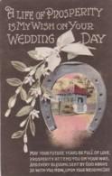 AR70 Greetings - My Wish On Your Wedding Day - Flowers, Horseshoe - Holidays & Celebrations