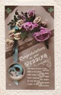 AR70 Greetings - Congratulations On Your Wedding - Flowers, Horseshoe - Holidays & Celebrations