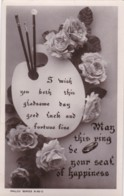 AR70 Greetings - Wedding Day - Good Luck And Fortune Fine - Roses, Ring - Holidays & Celebrations