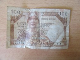 Billet Trésor Public 100 Francs Type 1955 (valable En Allemagne) - Alphabet Y.1 / 002227652 - 1955-1963 Staatskas