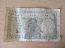 Banque De L'Afrique Occidentale - Billet 25 Francs 28-10-1954 - Alphabet B.133 / 50199 - West African States