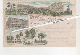 CPA..GRUSS AUS GORZE.HOTEL VON HABILLON.CARTE DE 1899.VOIR LE RECTO. - France