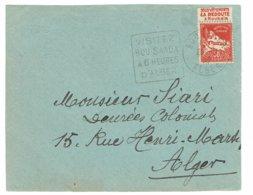 DAGUIN ALGERIE    BOU SAADA  Sur Devant D'enveloppe       E54 - Algérie (1924-1962)
