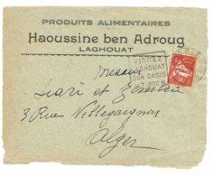 DAGUIN ALGERIE   LAGHOUAT  Sur Devant D'enveloppe       E55 - Algérie (1924-1962)