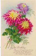 AS94 Greetings - A Joyous Birthday - Chrysanthemums - Birthday