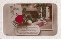 AS94 Greetings - To Greet You Today - Birthday, Rose, Garden - Birthday