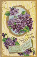 AS94 Greetings - All Kind Thoughts And Best Wishes From Twyford - Embossed - Holidays & Celebrations