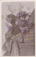 AS94 Greetings - A Birthday Greetings - Flowers, Ribbon - Birthday