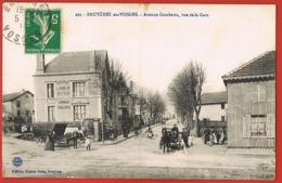 Bruyères-en-Vosges -88- Avenue Gambetta, Vue De La Gare -  Attelages- Cammionage, Correspondant Des Chemins De Fer - Bruyeres