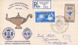BUSTA VIAGGIATA  RACCOMANDATA - SUD AFRICA - GOLDEN JUBILEE CONGRESS - VIAGGIATA PER OKAHANDJA  ( NAMIBIA) - Cartas