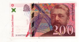 200 Francs - Gustave Eiffel  1999 - 1992-2000 Aktuelle Serie