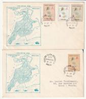 FDC - MACAO - 1956 - Carte Du Territoire - - FDC