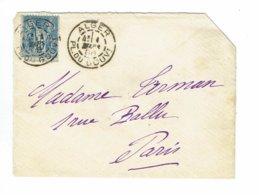 DAGUIN ALGERIE  Jumelée ALGER  1888   Coin Enveloppe Découpé En  Haut à Droite     E88 - Algérie (1924-1962)