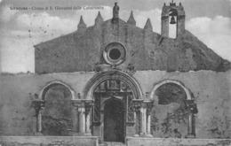 "M08704 "" SIRACUSA-CHIESA DI S. GIOVANNI DELLE CATACOMBE ""   - CART. ORIG. SPED. 1923 - Siracusa"