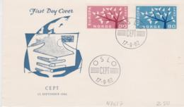 Norway FDC 1962 Europa CEPT (T3-39) - 1962