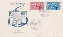 Norway FDC 1962 Europa CEPT (T3-39) - Europa-CEPT