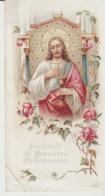 IMAGE RELIGIEUSE - PREMIÈRE COMMUNION - ANDRÉ - EGLISE SAINT LAMBERT - PRES CHEVREUSE - 1900 - - Santini