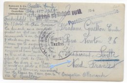 1916 - PRISONNIERS De GUERRE FRANCAIS En ALLEMAGNE - CARTE PHOTO De FRIEDRICHSFELD => LILLE OCCUPATION ALLEMANDE - WW I