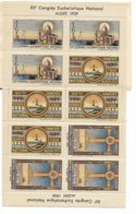 ALGER  3-7 MAI 1939 XII E CONGRES EUCHARISTIQUE NATIONAL 10 TIMBRES TRES BON ETAT - Algerije (1924-1962)