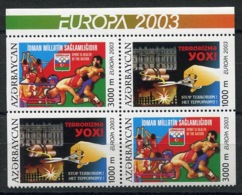 RC 14101 EUROPA 2003 AZERBAIDJAN BLOC DE 4 NEUF ** MNH - Europa-CEPT