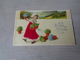 Enfant ( 3527 )  Kind  Fille  Fillette  -  Carte Gaufrée   Reliëf - Enfants