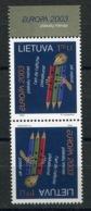 RC 14102 EUROPA 2003 LITUANIE PAIRE TETE BECHE NEUF ** MNH - 2003