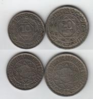 MAROC  10 + 20 Francs 1947 / AH 1366  Morocco - Maroc