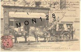 CLERMONT FERRAND (63)  LES CARS ALPINS,ENTREPRISE TRINQUIER - CORRESPONDANT DU SYNDICAT D'INITIATIVE ET DE LA Cie P.L.M - Clermont Ferrand