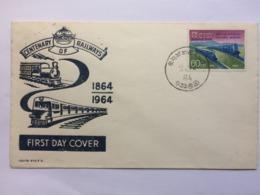 CEYLON 1964 Centenary Of Railways FDC - Sri Lanka (Ceylon) (1948-...)