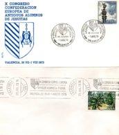W19a-b  Espagne  -X Congrès De La Fédération Européenne Des Anciens élèves Jésuites - Valancia - 1973 -  1/8/1973  TTB - Idées Européennes