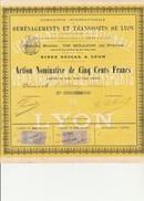ACTION NOMINATIVE DE1898 -COMPAGNIE INTERNATIONALE DE DEMENAGEMENTS ET TRANSPORTS DE LYON. - Transports