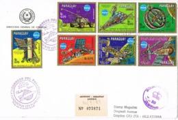 34134. Carta Certificada F.D.C. ASUNCION (Paraguay) 1989. Space, Espacio, Conquista De Los Planetas, NASA - Paraguay