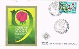 34135. Carta SAN FELIU De LLOBREGAT (Barcelona) 1975. Exposicion Rosas - 1931-Hoy: 2ª República - ... Juan Carlos I