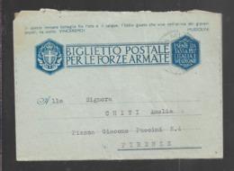 Biglietto Postale Per Le Forze Armate - Viaggiata - Otros