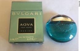 MINIATURE PARFUM HOMME BULGARI/BVLGARI AQVA MARINE 5 ML EAU DE TOILETTE AVEC BOÎTE - Miniatures Men's Fragrances (in Box)