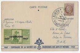 Carte Postale Tres Rare Bon Etat , Centenaire De La Société Des Ingénieurs Des Arts Et Métiers, Voir Recto- Verso - Métiers