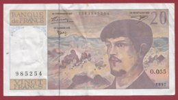 "20 Francs ""Debussy"" 1997 ---VG/TTB----Série -O.055 - 1962-1997 ''Francs''"
