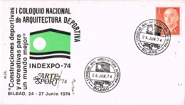 34139. Carta BILBAO 1974. Coloquio Arquitectura Deportiva. INDESPORT 74 - 1931-Hoy: 2ª República - ... Juan Carlos I