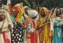 COMORES : Femmes Indigènes : Carte AQUARELLE ARCHES . Oblitération Dzaoudzi De 1957 - Komoren