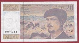 "20 Francs ""Debussy"" 1997 ---VF/SUP----Série -L.057 - 1962-1997 ''Francs''"