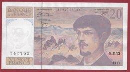 "20 Francs ""Debussy"" 1997 ---VF/SUP----Série -S.052 - 1962-1997 ''Francs''"