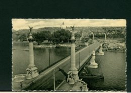 CARTOLINA -  BELGIO  LIEGE 1954  -  PONT DE FRAGNEE -  LA MEUSE - Liege